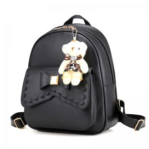 Girl PU 4Pcs Bowknot Backpack -