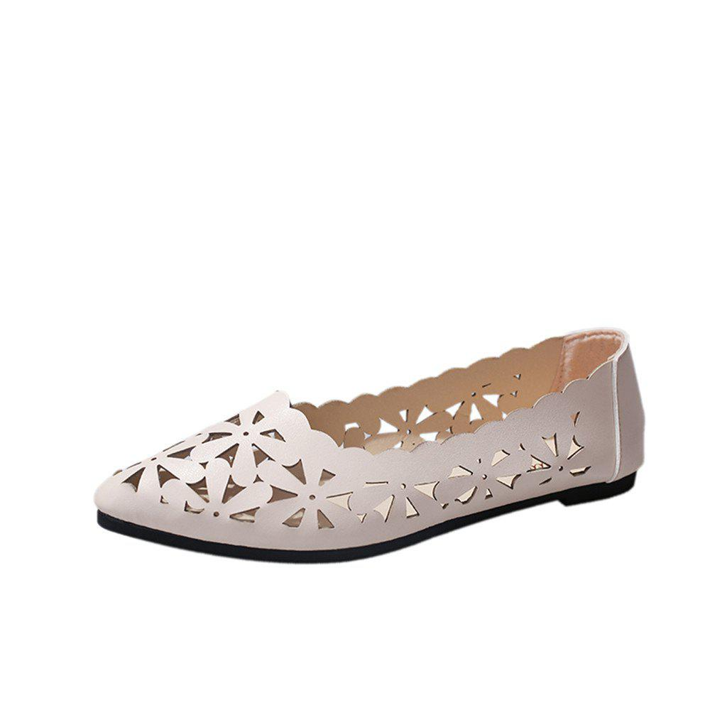 Fancy Hollow Out Flat  Pointed Head Shallow  Shoes