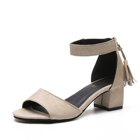 String High Heels  Women's Shoes - Apricot - 36