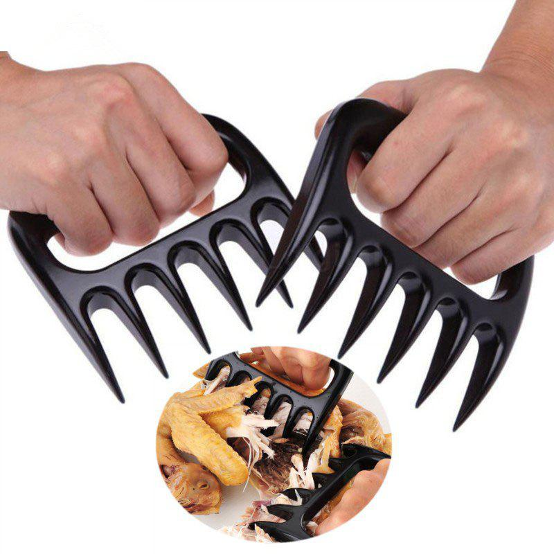 New 2PCS Set Bear Paws Claws Meat Separator Fork Tongs Pull Shred Pork Barbecue Tool