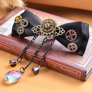 Europe and The United States Popular Steampunk Fabric Bow Gear Duckbill Clip -