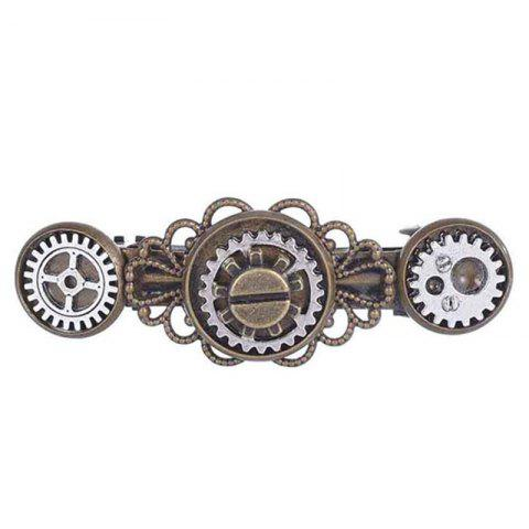 Nouveau style exagéré bijoux Steampunk Gear alliage Clip de printemps en épingle à cheveux