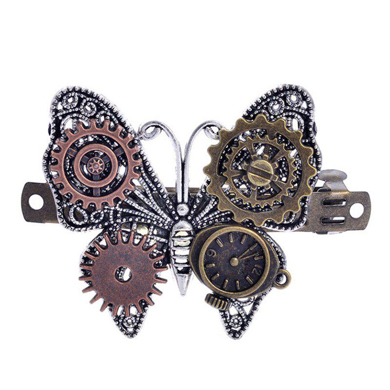 European and American Fashion Jewelry Steampunk Gear Alloy Butterfly Hair Clips