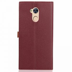 Velcro Business Card Lanyard Pu Leather for HUAWEI Honor 6A -
