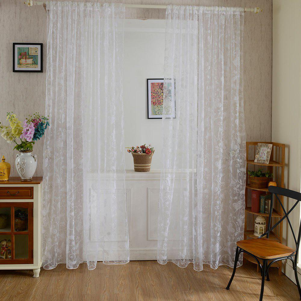 Trendy Multicolored Butterfly Flock Curtain Window Screen