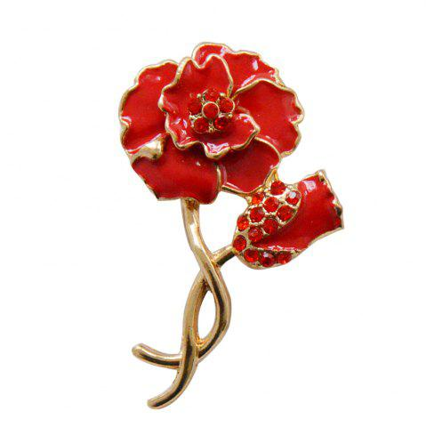 Affordable Wedding Red Poppy Flower Brooch Pins Fashion Jewelry  Enamel Brooches for Women