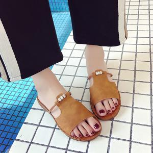 Casual All-match Toe Retro Slippers -