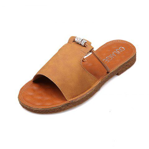 New Casual All-match Toe Retro Slippers