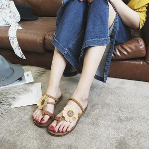 Flat Bottom Flower Toes and Sandals -