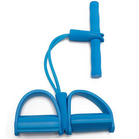 Discount 2 Tube Pedal Exerciser Fitness Resistance Band Rope Elastic Exercise