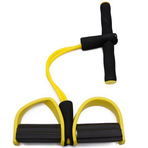 Online 2 Tube Pedal Exerciser Fitness Resistance Band Rope Elastic Exercise