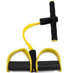 2 Tube Pedal Exerciser Fitness Resistance Band Rope Elastic Exercise -