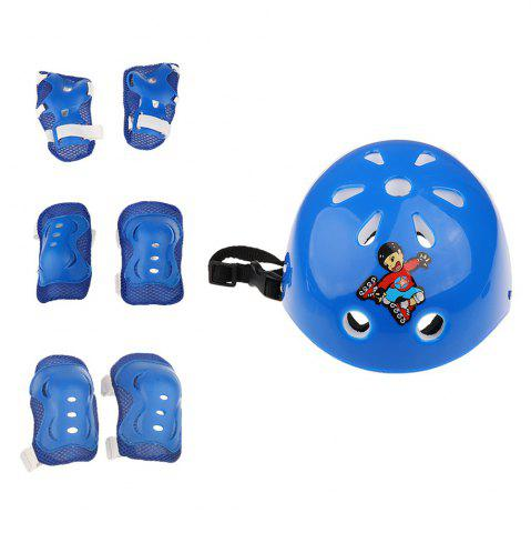 Store 7 Pieces Kids Roller Skating Cycling Helmet Knee Elbow Pad Wrist Guard Gear Sets