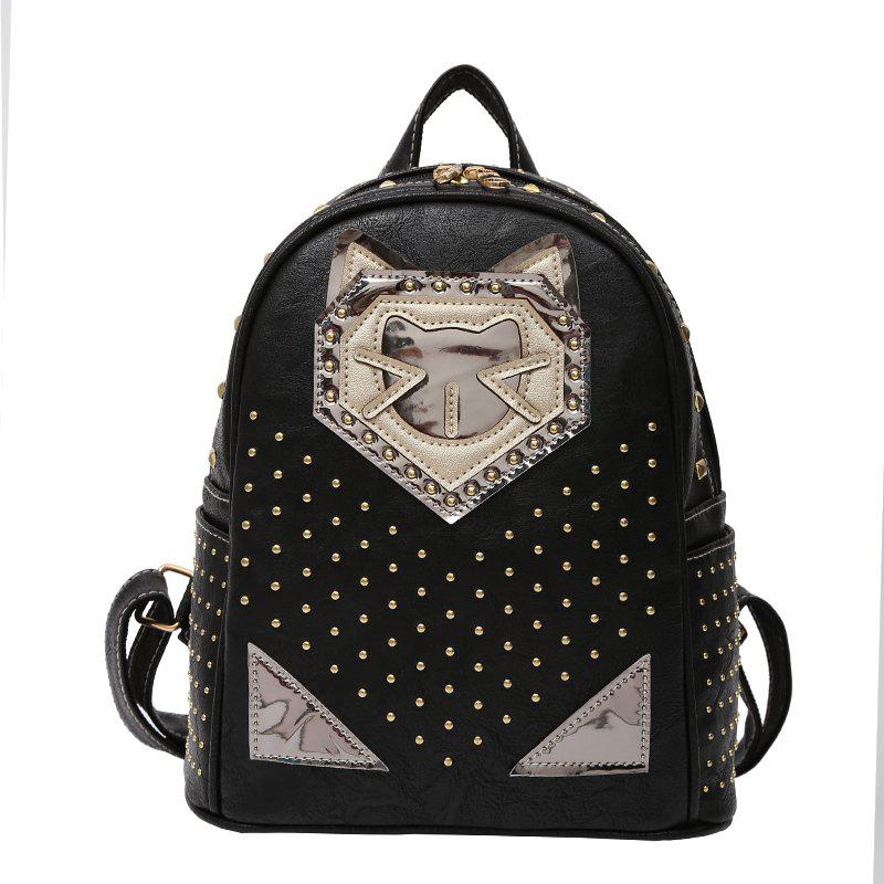 Store Fashion Rivets Cartoon Travel Backpack