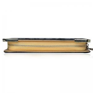 Ladies Long Wallet Zipper Elegant Clutch Stone Pattern Card Purse -