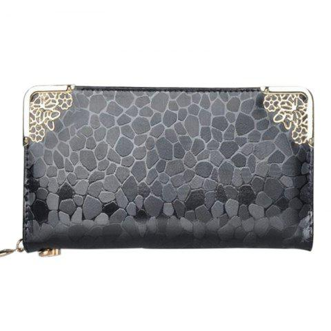 Shop Ladies Long Wallet Zipper Elegant Clutch Stone Pattern Card Purse