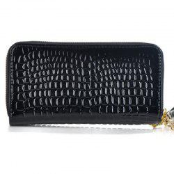 Woman Double Zippers Wallets Long Paragraph Large Capacity Purses -