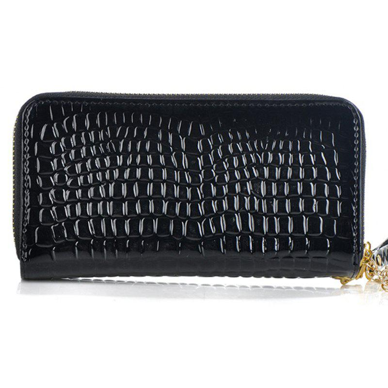 New Woman Double Zippers Wallets Long Paragraph Large Capacity Purses