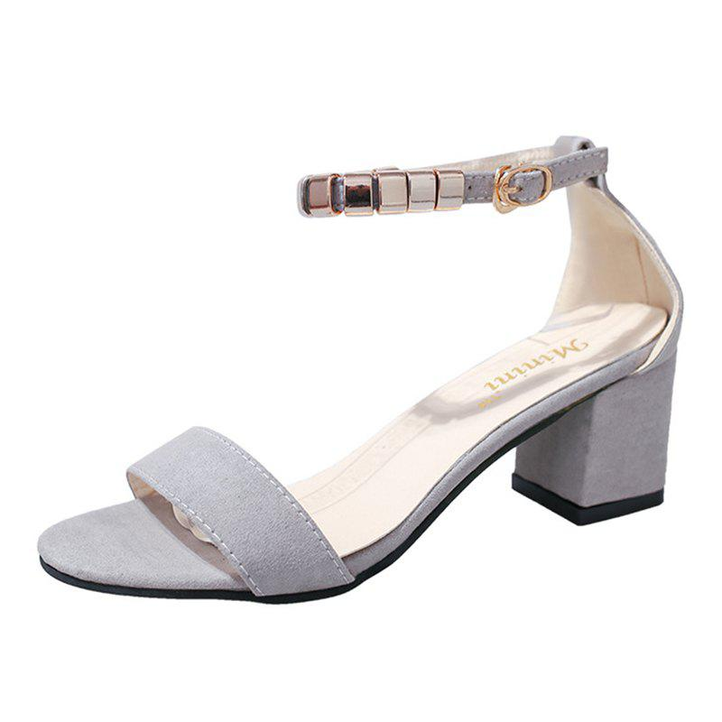 0bc4933e47a Outfits Women Ankle Strap Low Block Heel Casual Sandals