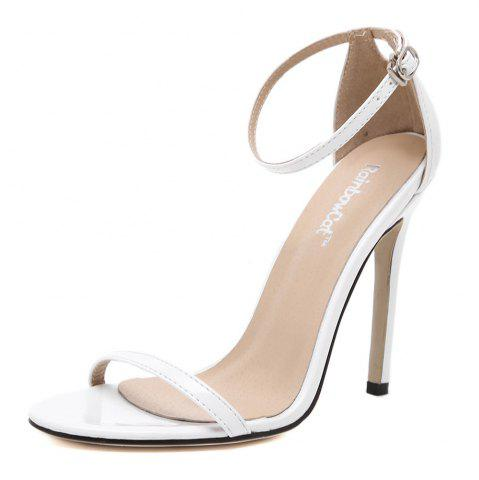 Buy Women Fashion Single Band Ankle Strap Open Toe Sandals - WHITE With Paypal Online 4PguJNcEh