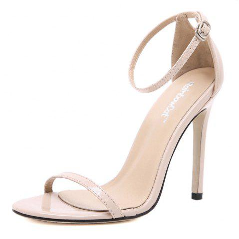 Outfits Women Fashion Single Band Ankle Strap Open Toe Sandals