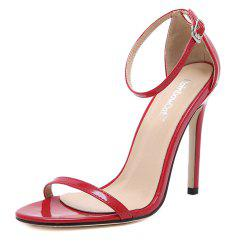 Femmes Mode Simple bande cheville Strap Open Toe Sandales -