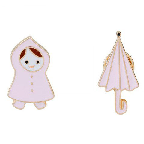 Outfit Fresh and Lovely Little Girl/Raincoat Umbrella Brooches