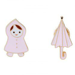 Fresh and Lovely Little Girl/Raincoat Umbrella Brooches -