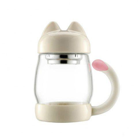 New Cute Cartoon Kitty Cat Mug Glass Cup with Lid Office Creative Student Tea