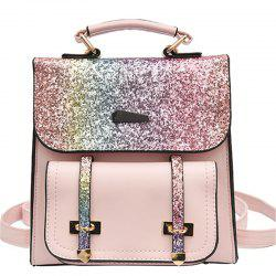Female Backpack Fashion Sequins Shoulder Messenger Student Bag -