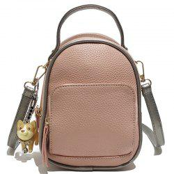 Contrast Shoulder Female Wild Multi-purpose Small Backpack Travel Bag -