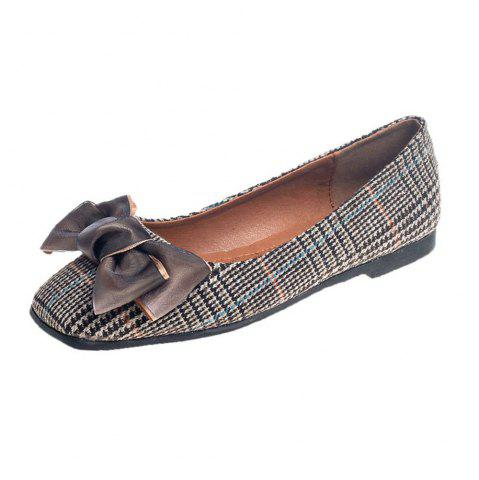 Discount Bow Decor Comfortable Flat Shoes