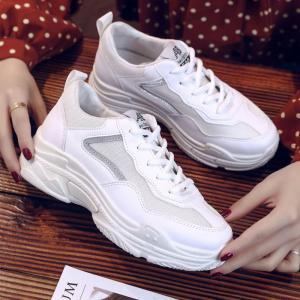 Lace Up Flatform Sneakers -