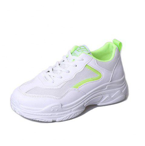 Lace Up Sneakers forme plate
