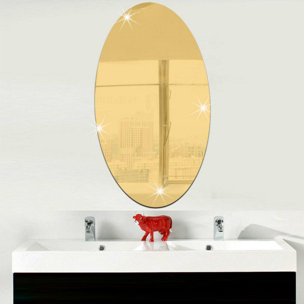 Gold Removable Background Decorative Mirror Wall Sticker | RoseGal.com