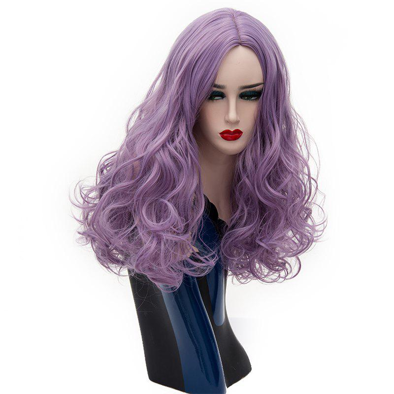 Trendy Long Curly Wig for Women Purple Cosplay Hair Heat Resistant 22 inch a4362ad32