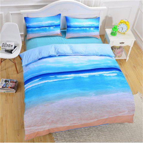 Latest Beach Ocean Bedding 3pcs Duvet Cover Set Digital Print