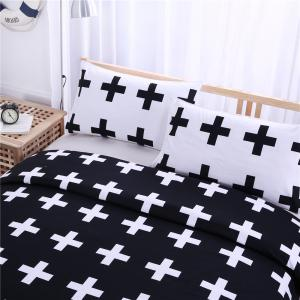 Crosses Bedding 3pcs Duvet Cover Set Digital Print -
