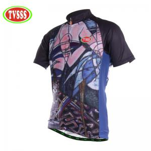 TVSSS Men Summer Short Sleeve Abstract Body Figure Cycling Sportswear -
