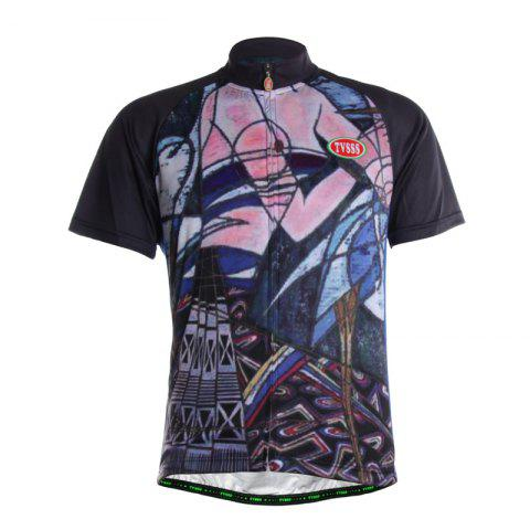 Fancy TVSSS Men Summer Short Sleeve Abstract Body Figure Cycling Sportswear
