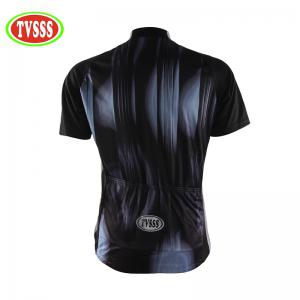 TVSSS Men Summer Short Sleeve Abstract Stripe Pattern Cycling Jersey Sportswear -