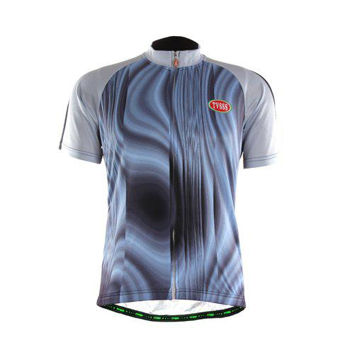 Best TVSSS Men Summer Short Sleeve Abstract Stripe Pattern Cycling Jersey Sportswear