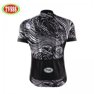 TVSSS Men Summer Short Sleeve Abstract Hill Pattern Bike Sportswear -