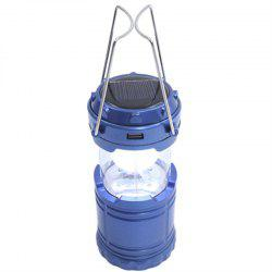 Outdoor LED Solar Power Collapsible Portable Rechargeable Hand Lamp Camping -