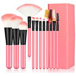 12pcs Makeup Brushes with Canister -