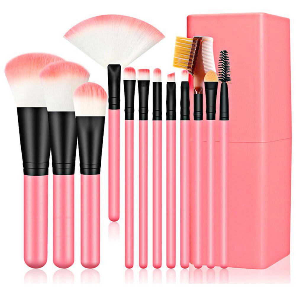 Cheap 12pcs Makeup Brushes with Canister