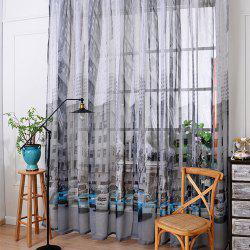 Bedroom Balcony Car Cotton Linen Curtain -