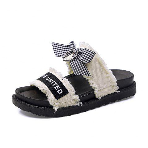 Discount Hundred Pairs  Anti Skid Beach Flats  Women's Shoes