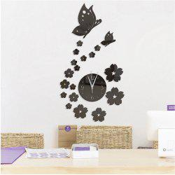 Stereo Creative Clock Background Mirror Wall Paste -