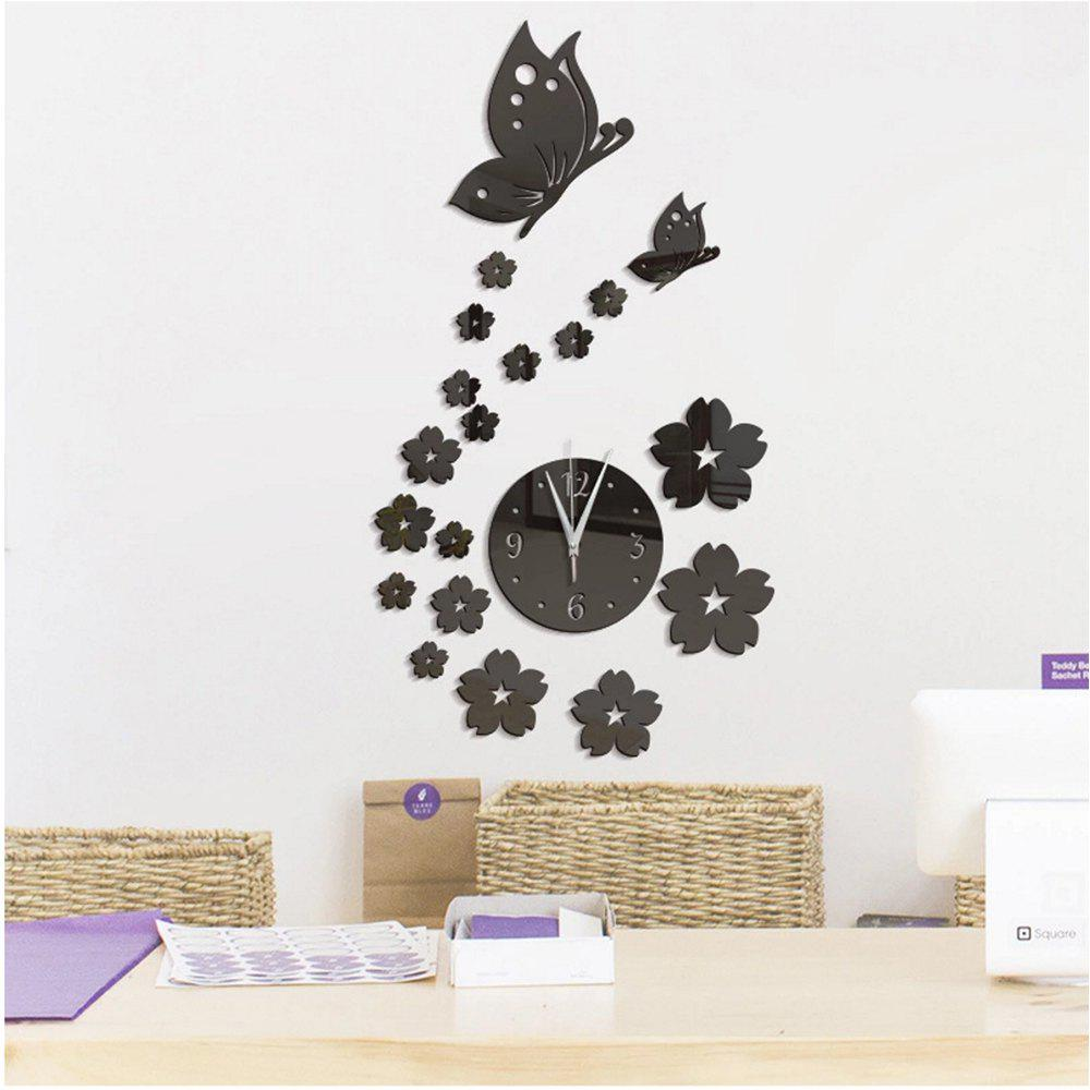 Best Stereo Creative Clock Background Mirror Wall Paste